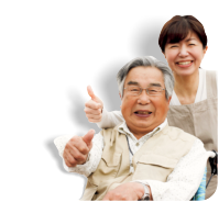 asian elder and female caregiver